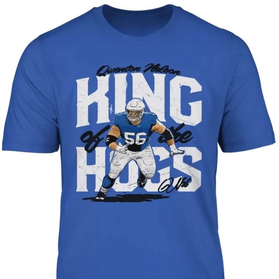 QUENTON NELSON KING OF THE HOGS T SHIRT
