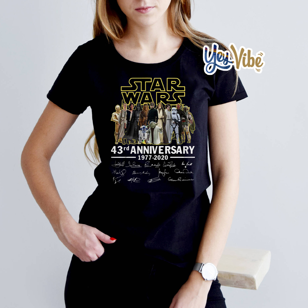 Star Wars 43rd anniversary 1977-2020 signatures shirts