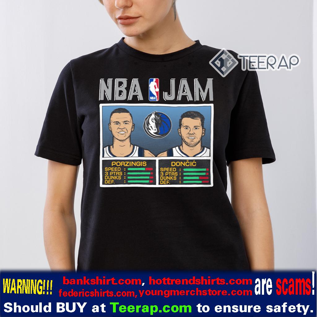 NBA Jam Ft. Kristaps Porzingis and Luka Doncic T-Shirt