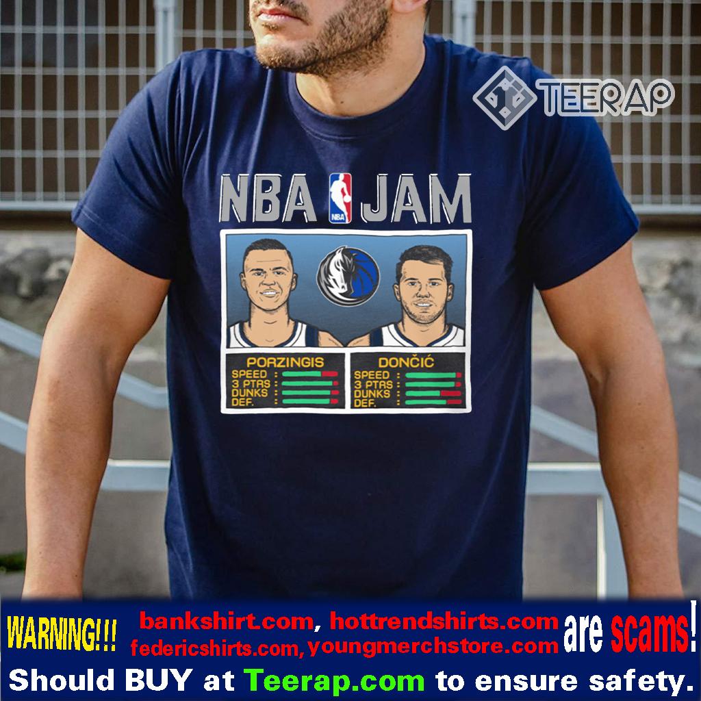 NBA Jam Ft. Kristaps Porzingis and Luka Doncic T-Shirts