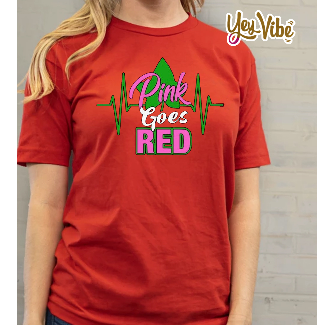 Pink Goes Red T-Shirts Alpha Kappa Alpha