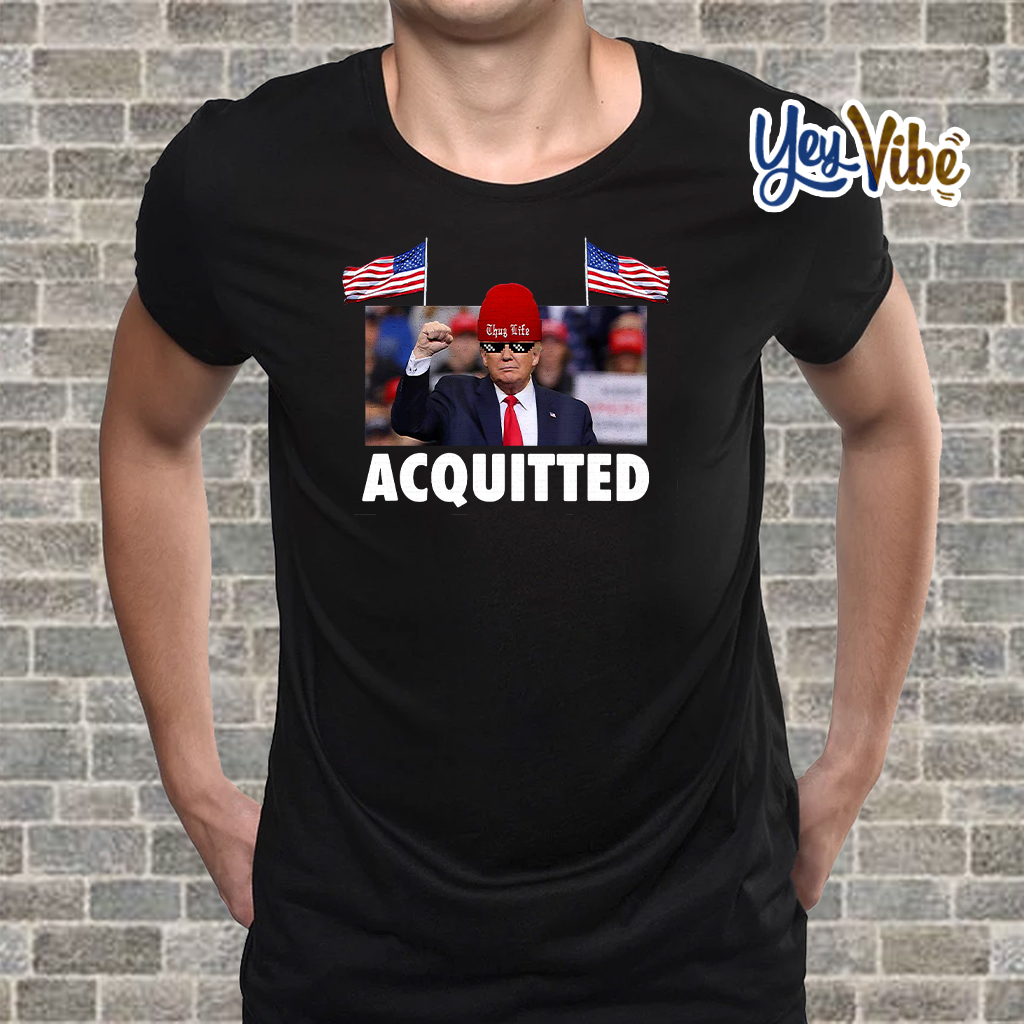 President Trump Acquitted Victory Funny Pro Trump T Shirt Hoodie