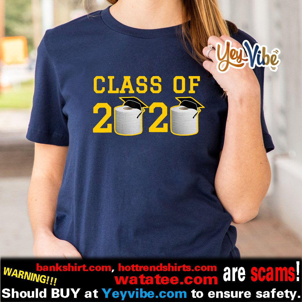Class of 2020 T-Shirt Funny Graduation Toilet Paper Outta TP T Shirt