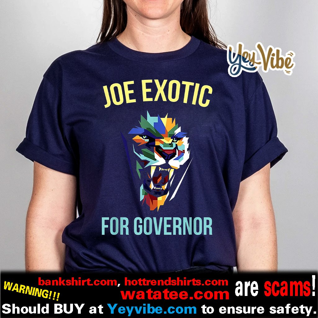 Joe Exotic For Governor Colorful Shirt