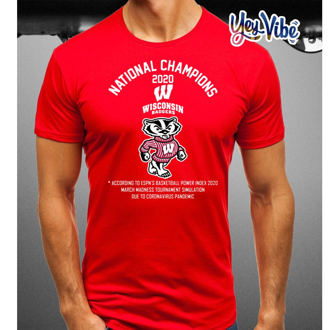 National Champions 2020 Wisconsin Badgers t-shirts