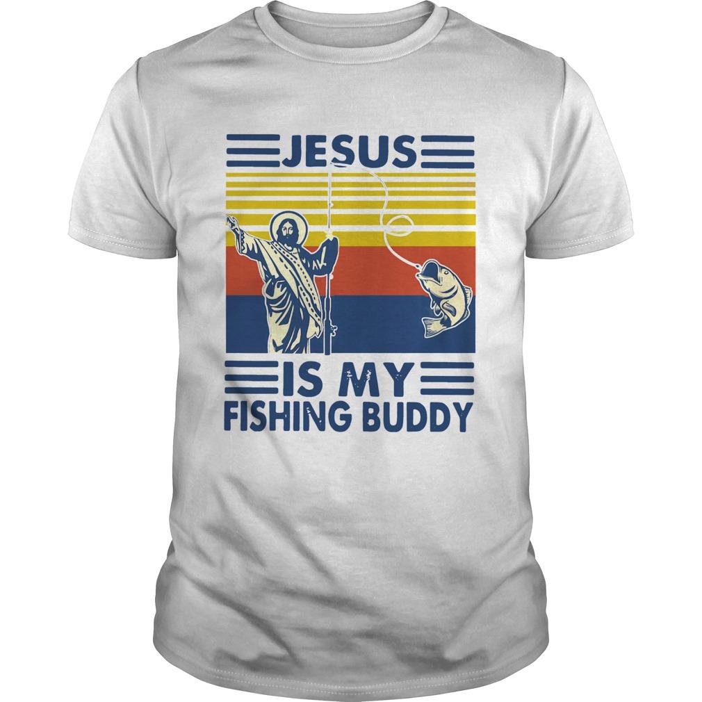 Jesus Is My Fishing Buddy Vintage Unisex
