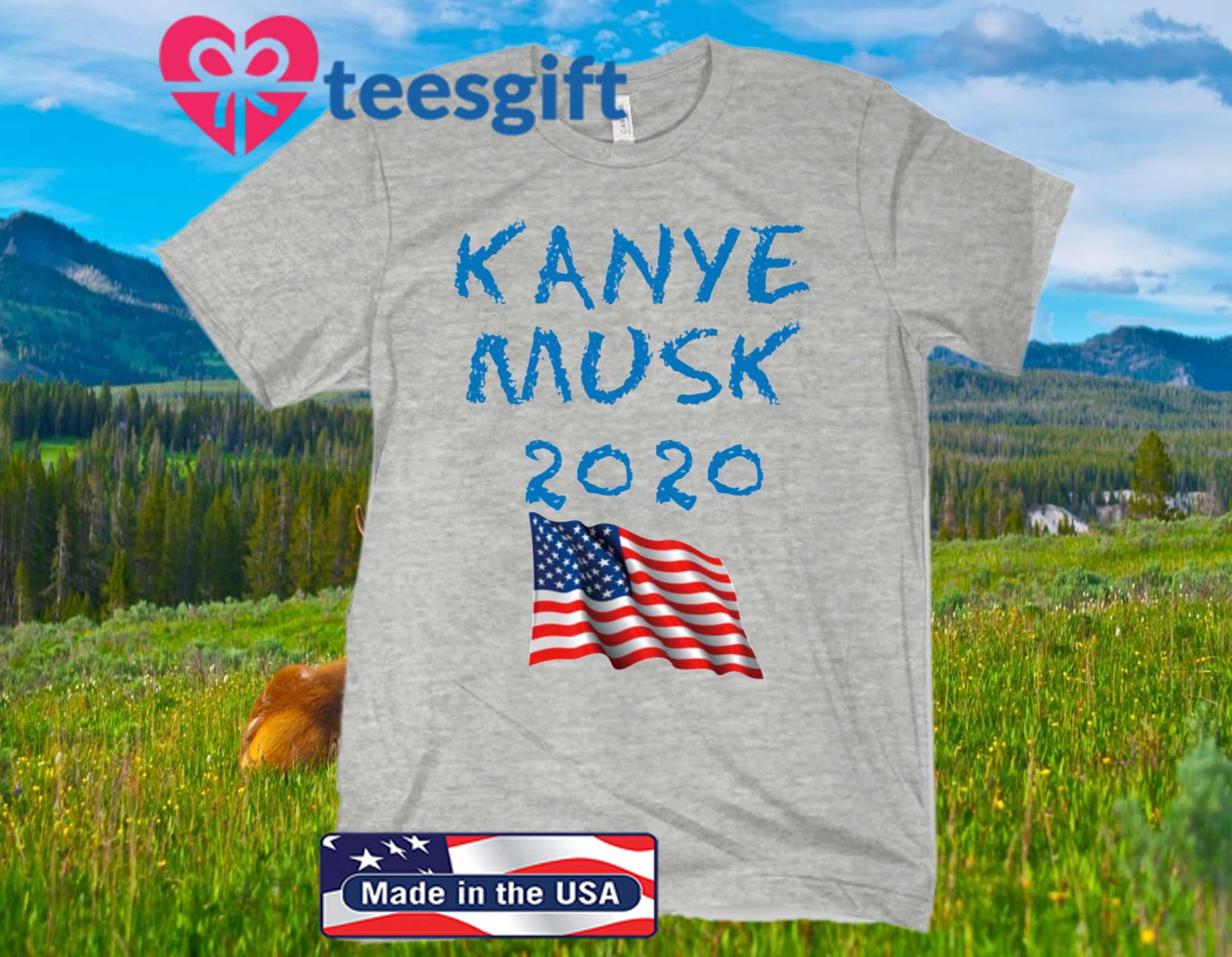Kanye Musk 2020 American Flag Official T-Shirt