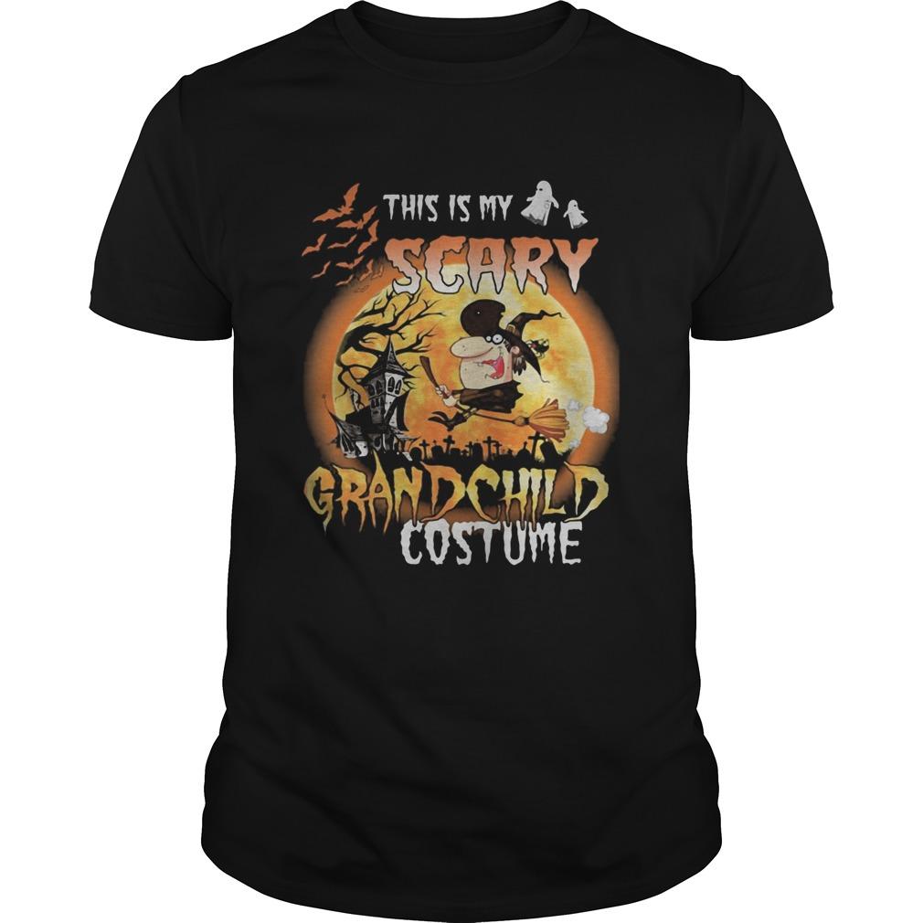 Halloween this is my scary grandchild costume moon Unisex