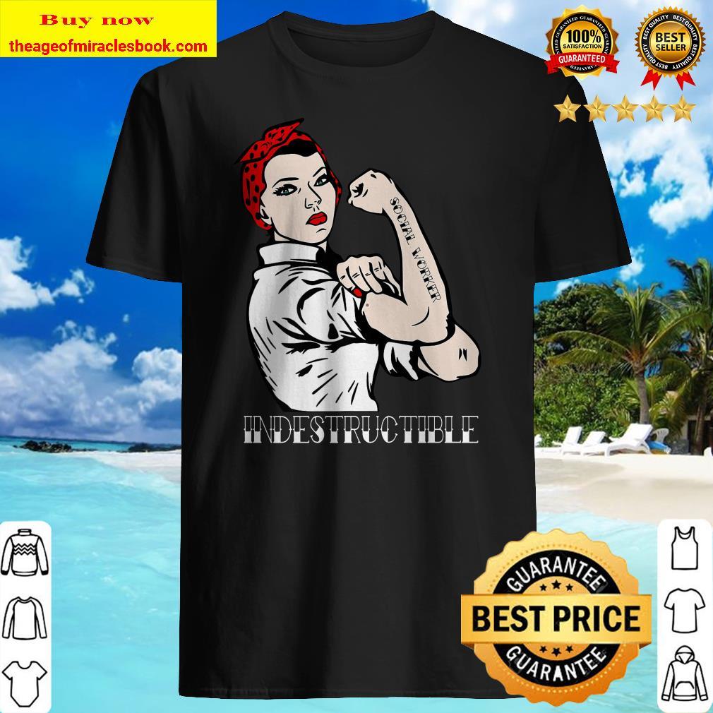 Indestructible Social Worker Pin-Up Premium Shirt