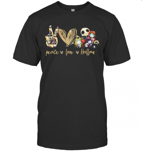 Peace Love Skellington Halloween T-Shirt Classic Men's T-shirt