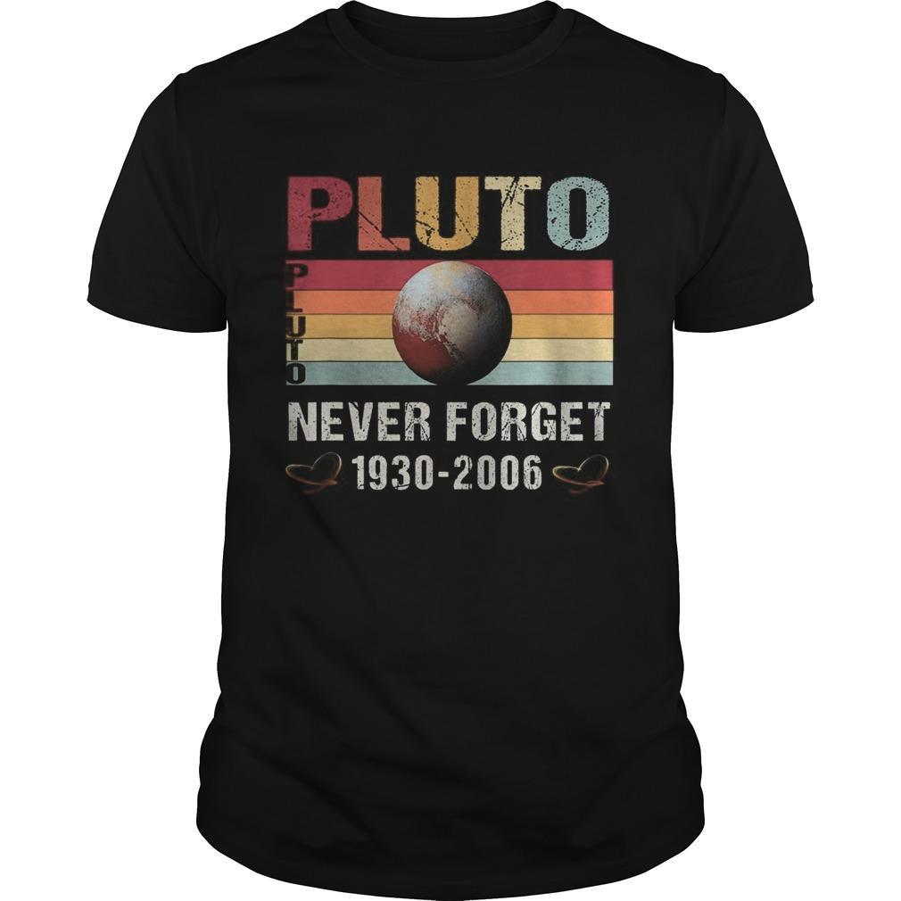 Pluto Never Forget Retro Vintage Unisex