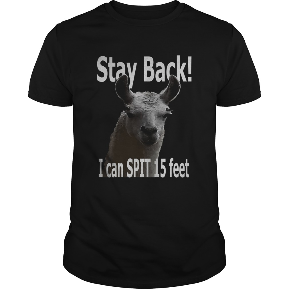 Stay Back 15 Feet Funny Cute Llama Unisex
