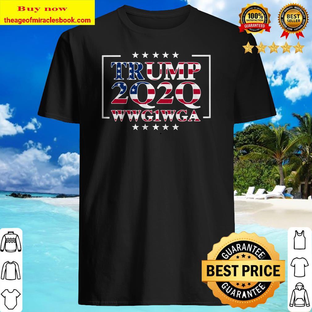 Trump Q Anon WWG1WGA JFK jr White Rabbit Q-Anon Awakening Shirt