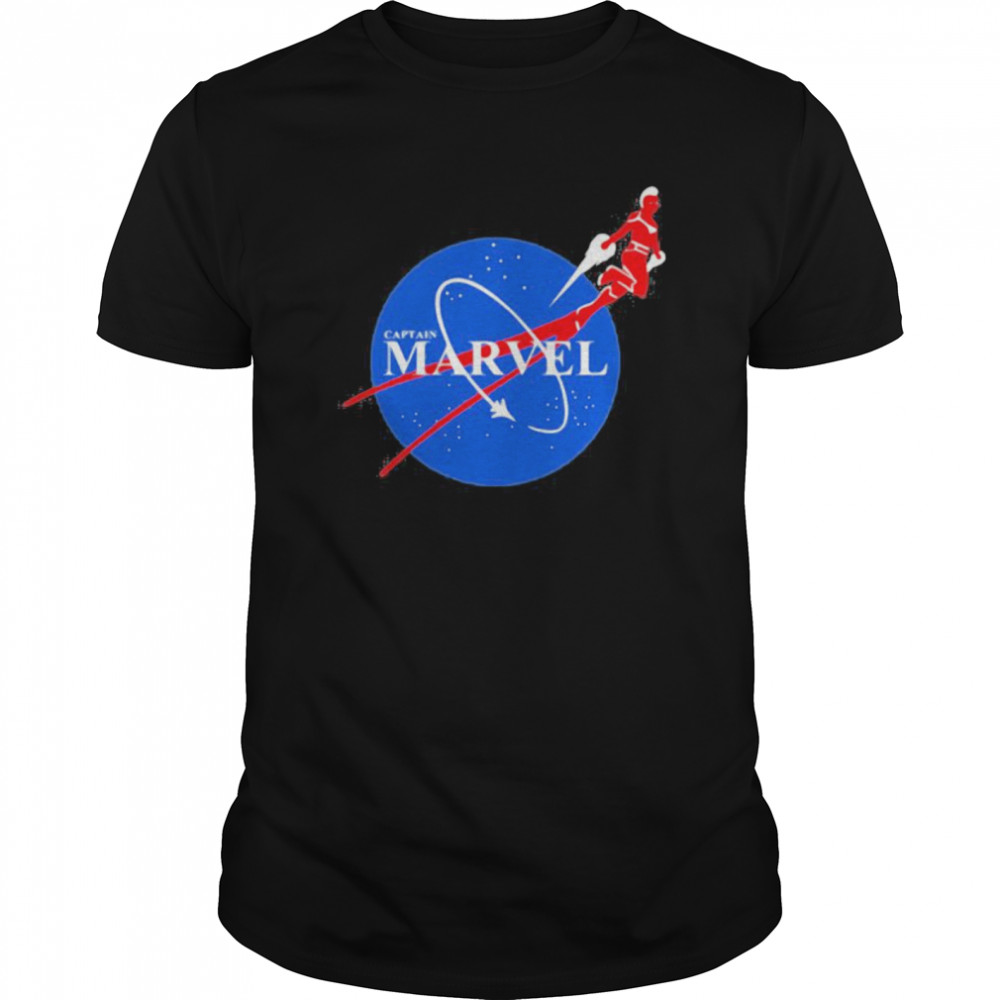 Captain marvel nasa logo Classic Men's T-shirt