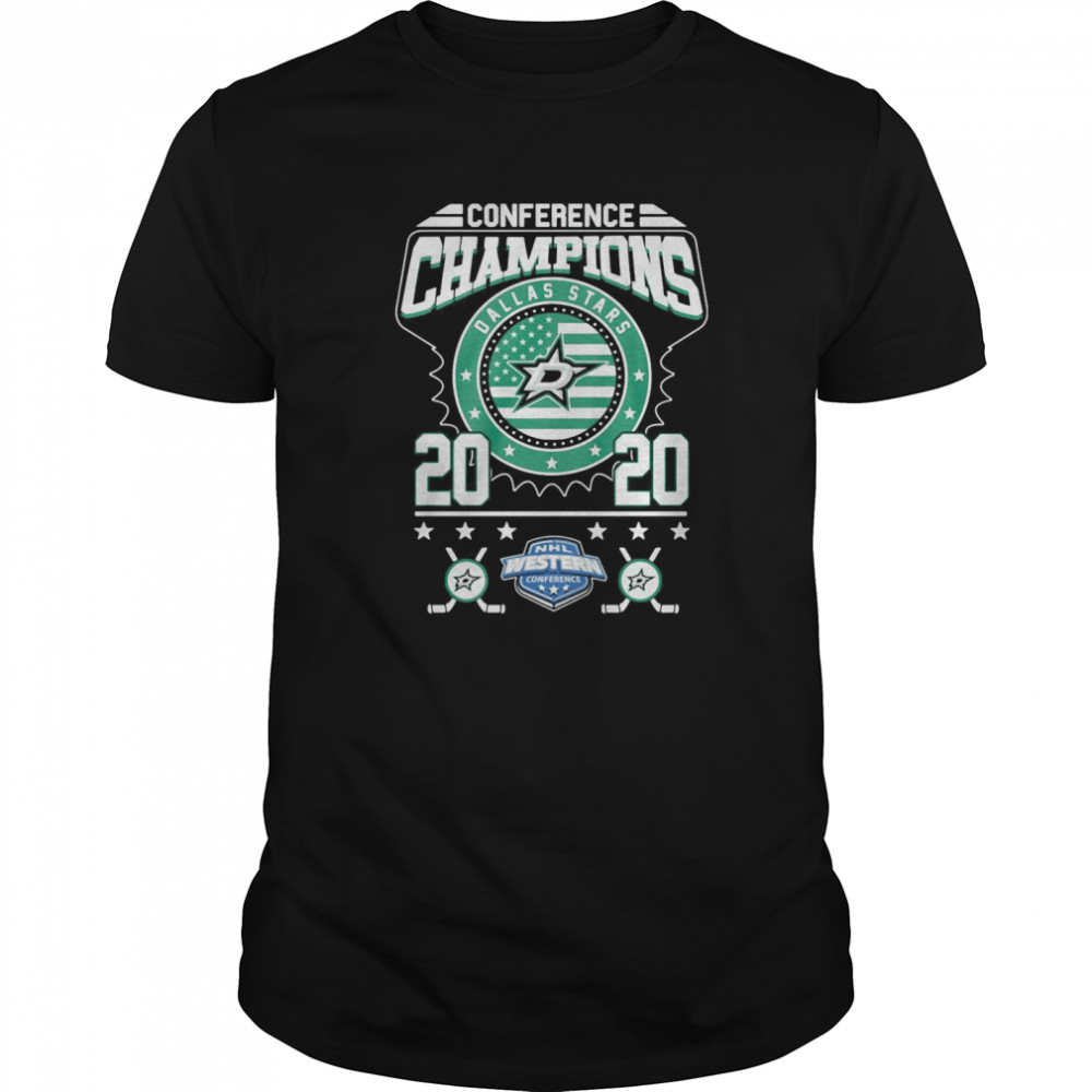 Dallas Stars Conference Champions NHL Western 2020 Classic Men's T-shirt