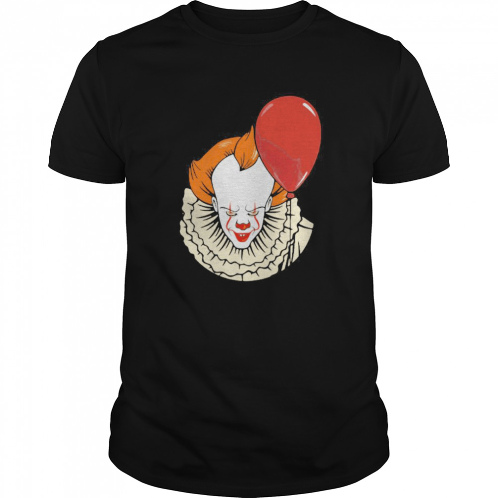 Happy halloween pennywise holding balloon Classic Men's T-shirt