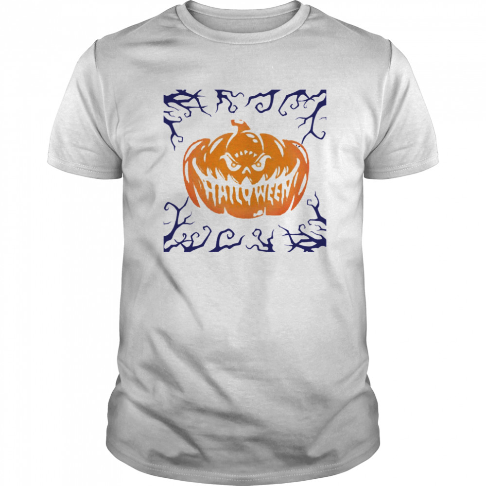 Happy Halloween Shirt Women Men Scary Night Pumpkin Face Classic Men's T-shirt