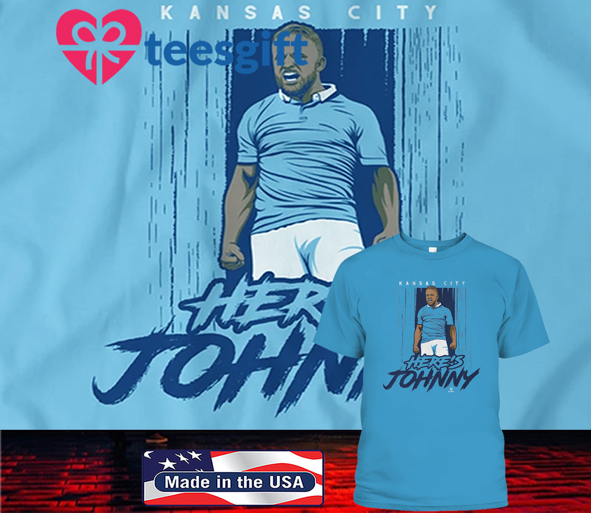 Johnny Russell Here's Johnny KC T-Shirt