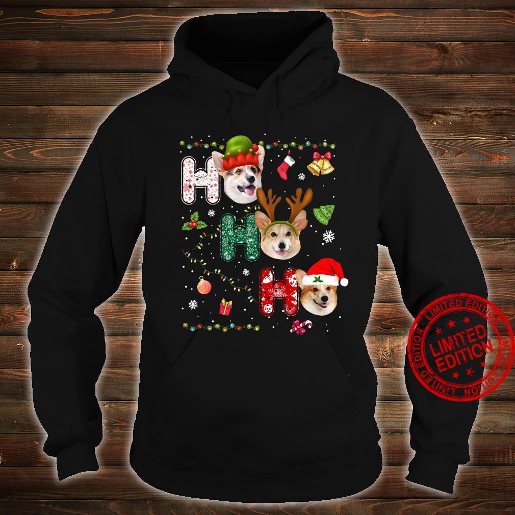 Corgi Santa Efl And Reindeer Ho Ho Ho Merry Christmas Hoodies T-Shirt