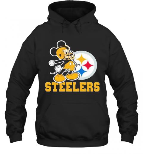 Mickey Mouse Pittsburgh Steelers Football Logo Team T-Shirt Unisex Hoodie