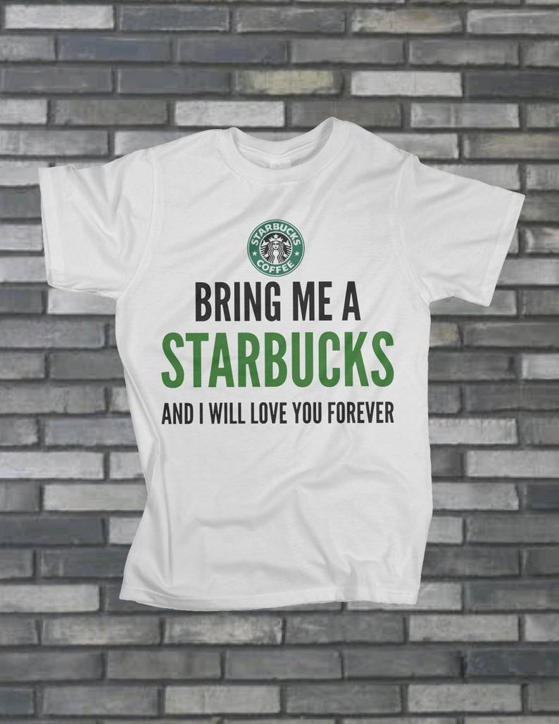 Starbucks Coffee T-Shirt Coffee Tee, Starbucks T-Shirt, Starbucks Logo Shirt, Coffee T-Shirt