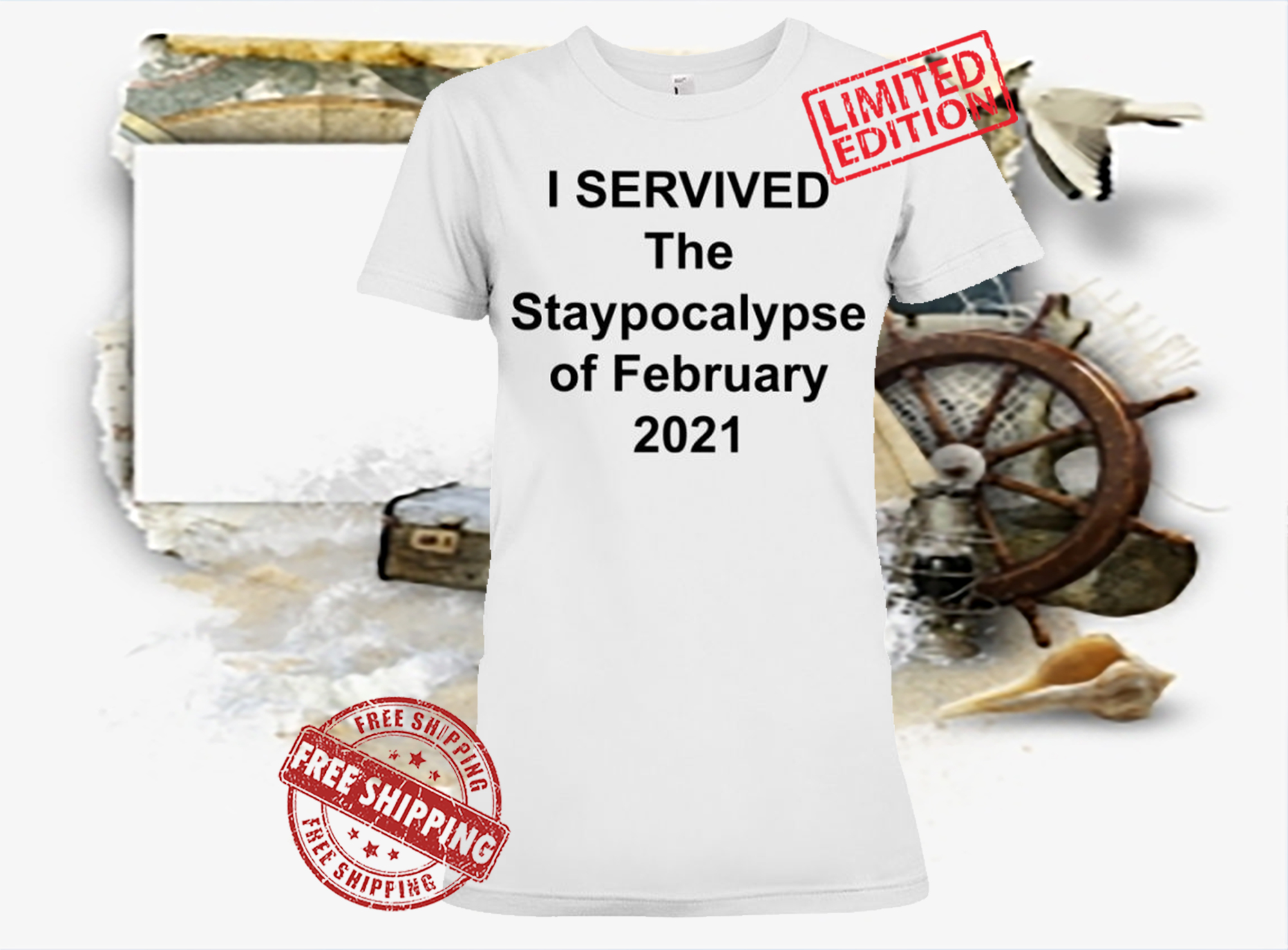 2021 I SERVIVED The Staypocalypse Of February Shirt
