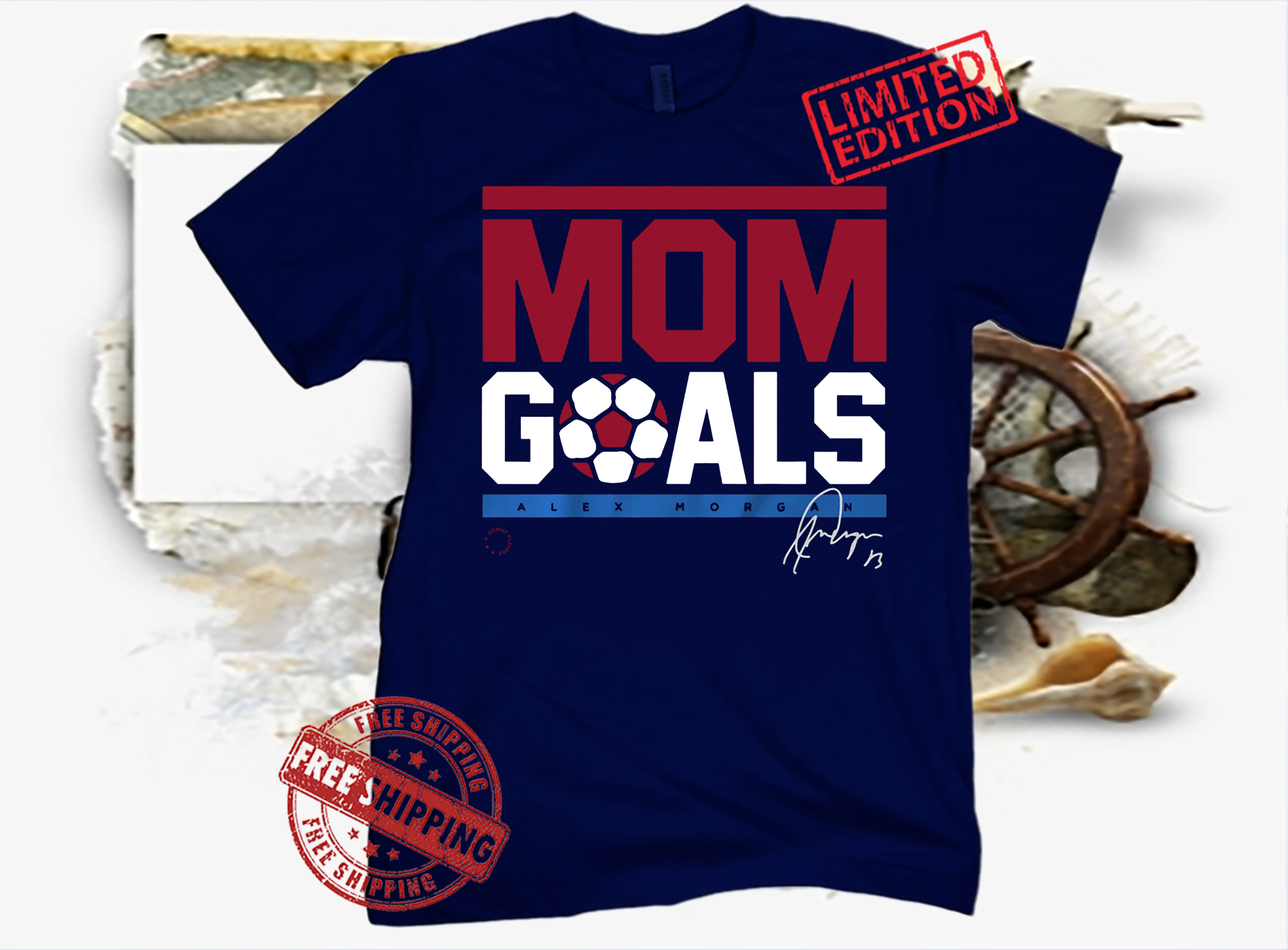 Alex Morgan Mom Goals USWNTPA Shirt