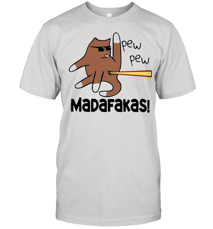 Cat pew pew madafakas shirt Classic Men's T-shirt