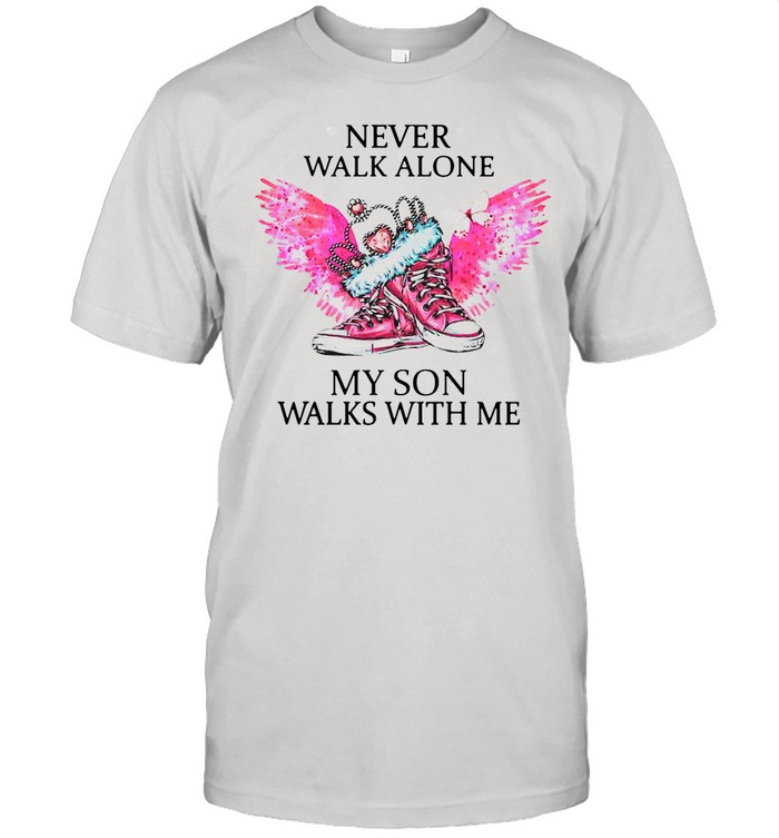 Chuck And Pearls Never Walk Alone My Son Walks With Me shirt Classic Men's T-shirt