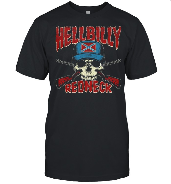Hellbilly Redneck Skull Sun shirt Classic Men's T-shirt