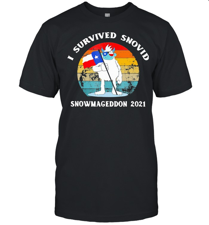 I Survived Snovid Snowmangeddon 2021 Vintage shirt Classic Men's T-shirt