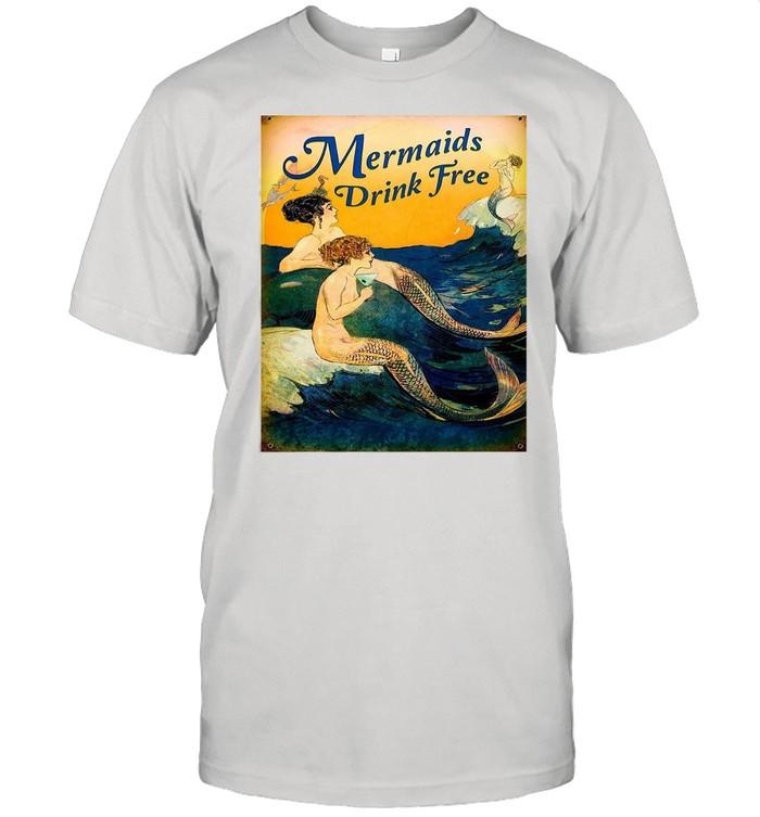 Mermaids Drink Free shirt Classic Men's T-shirt