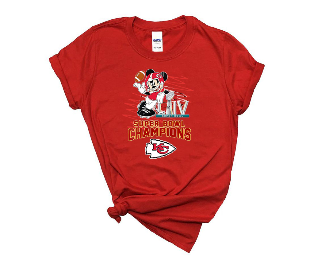 Mickey Mouse Super Bowl Champions Kansas City Chiefs T-Shirt,Chiefs AFC East Champions 2021 Football Gift T-Shirt