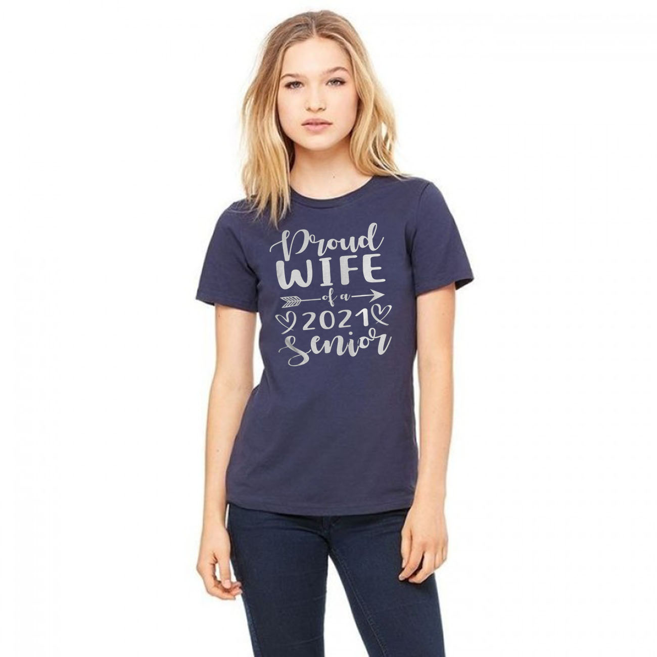 Proud Wife Of A 2021 Senior Graduation Gift T-Shirts