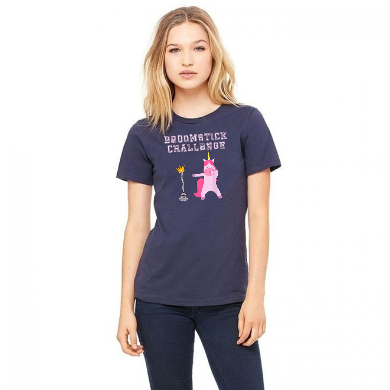 #broomstickchallenge Broomstick Challenge Champion Unicorn Classic T-Shirt
