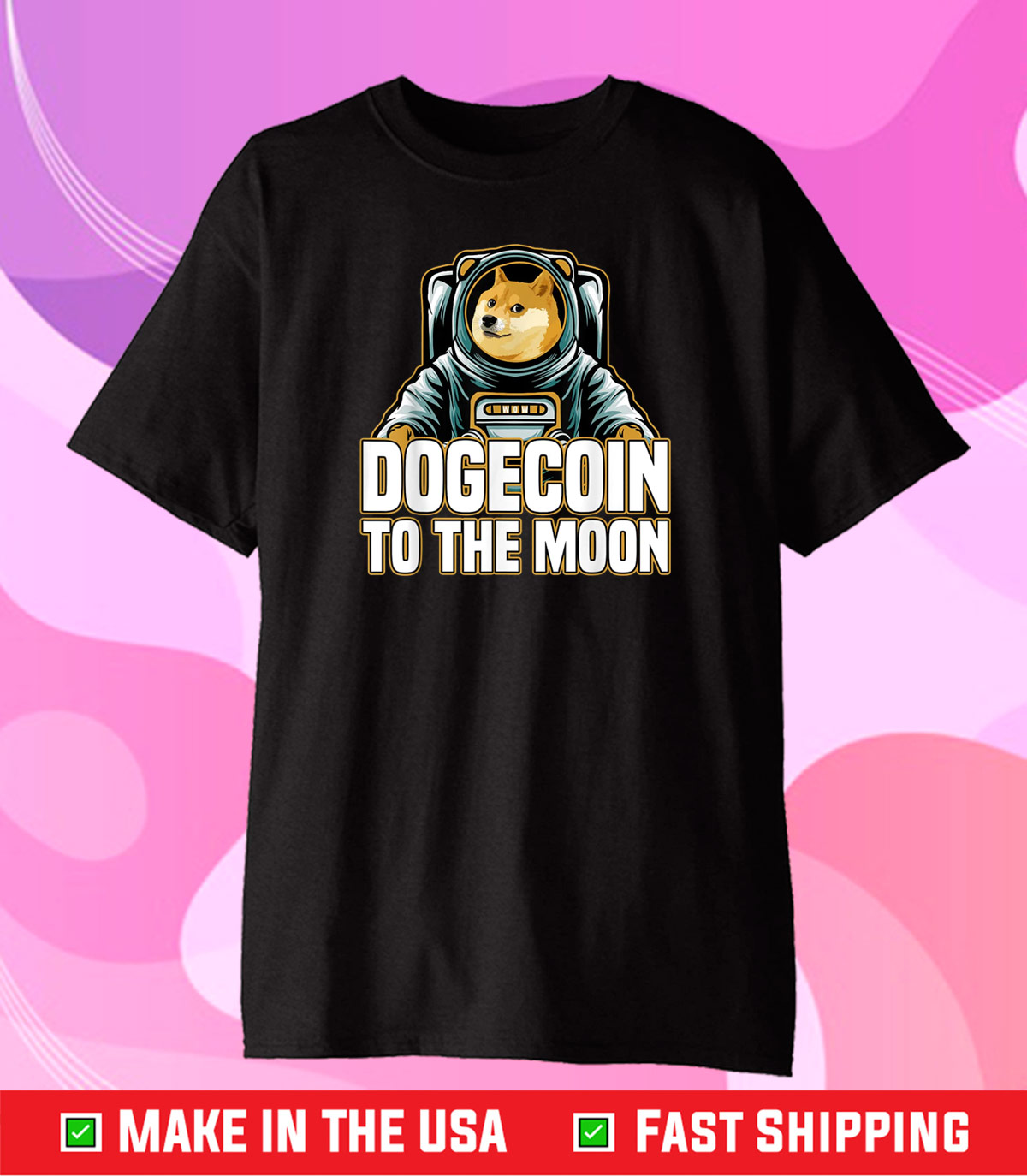 Dogecoin To The Moon Classic T-Shirt