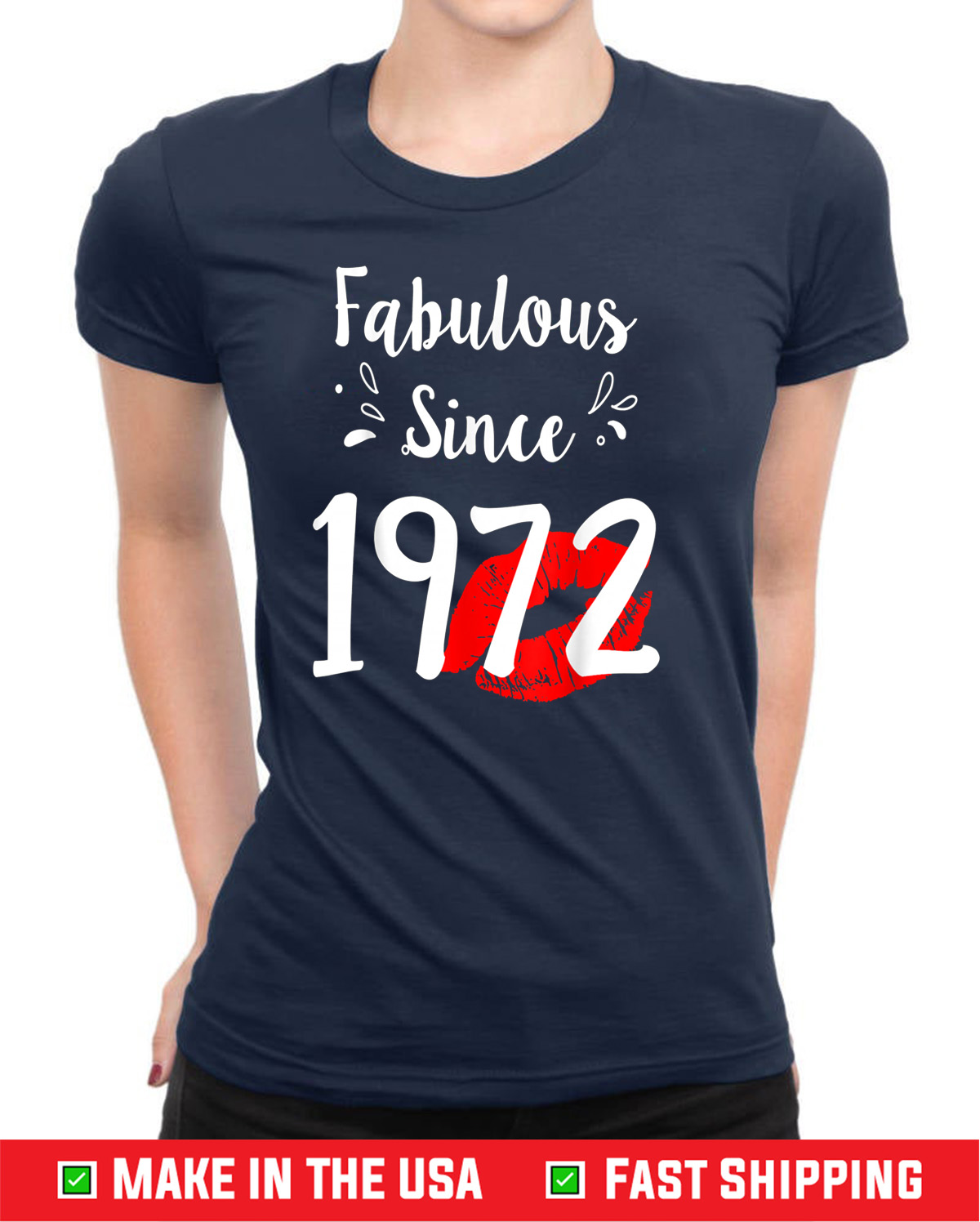 Fabulous Since 1972 Chapter 48 with lips Unisex T-Shirts