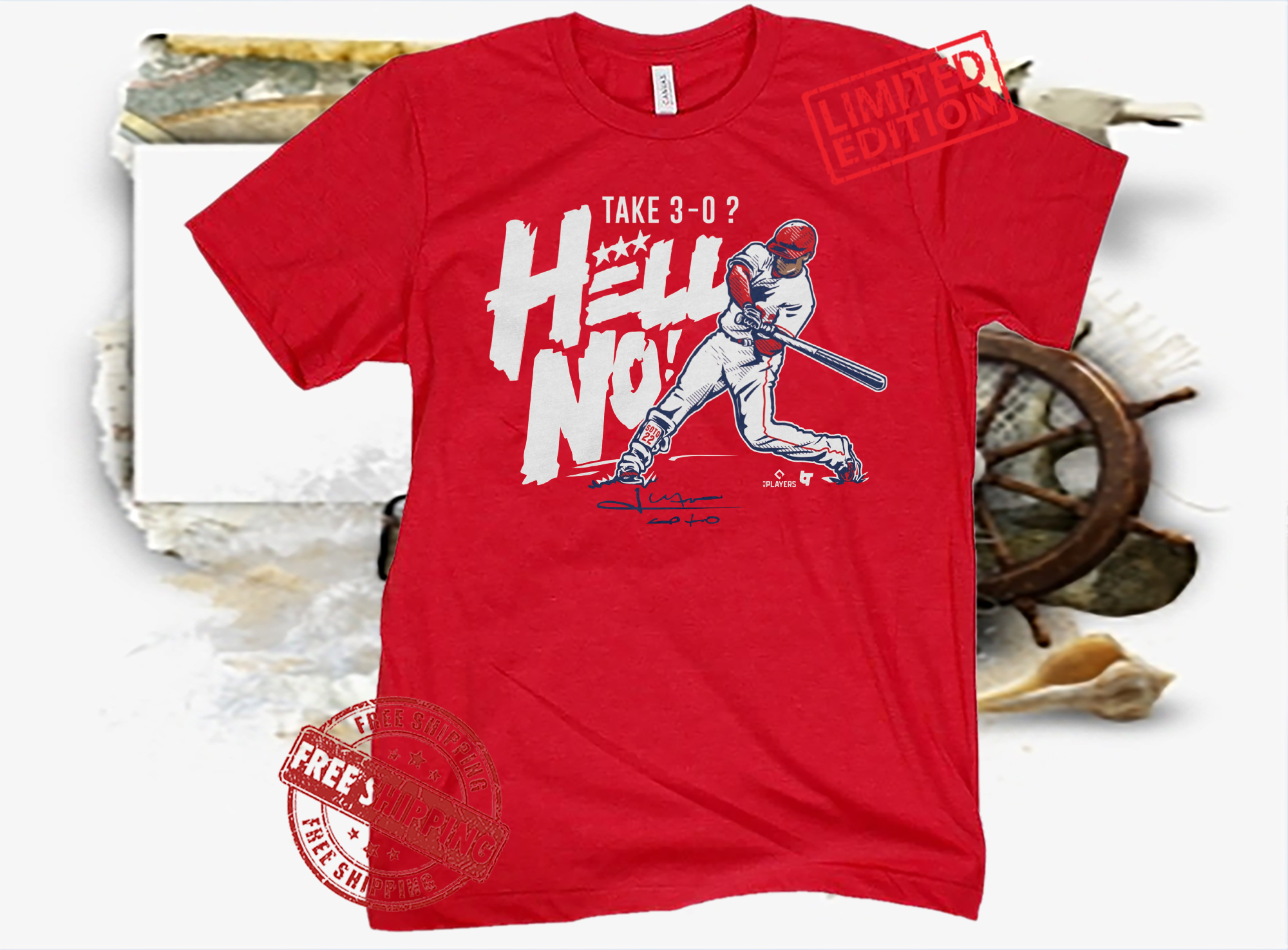 Juan Soto Take 3-0? Hell No! Shirt - Hoodie - MLBPA