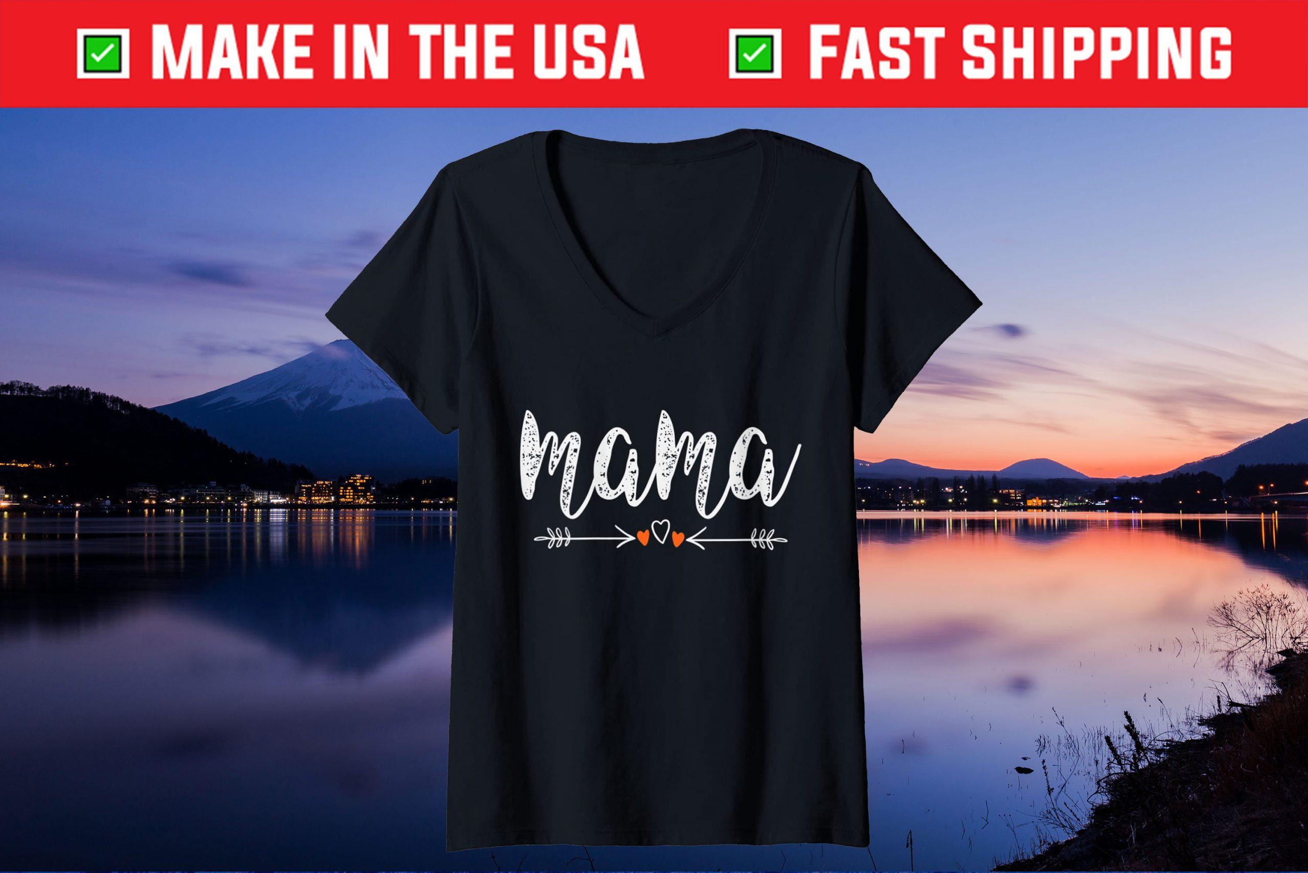 MAMA Arrow Hearts,Mother's Day Idea 2021 Gift T-Shirt