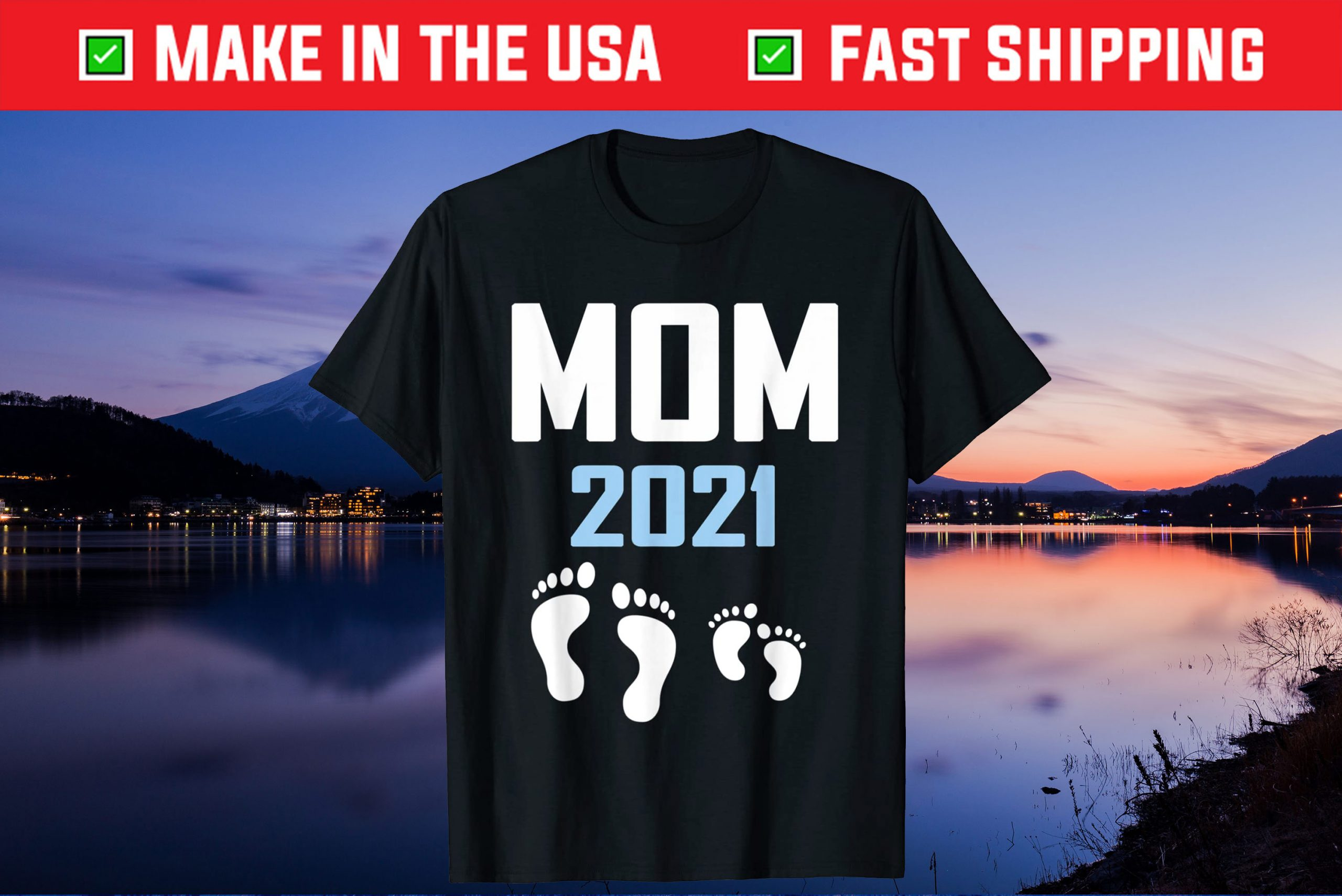 Mom 2021 - Promoted to Mommy Est. Gift T-Shirt