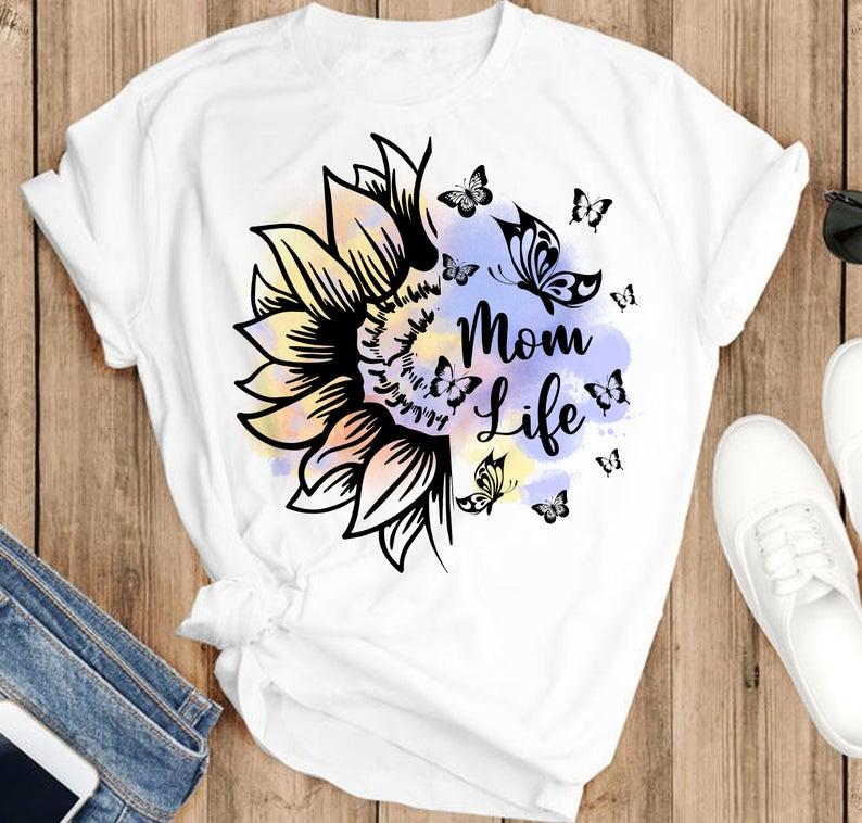 Momlife Floral Tshirt, Mommy 2021 shirt, momlife tshirt, Mother's Day tshirt, Mothers day 2021 Gift