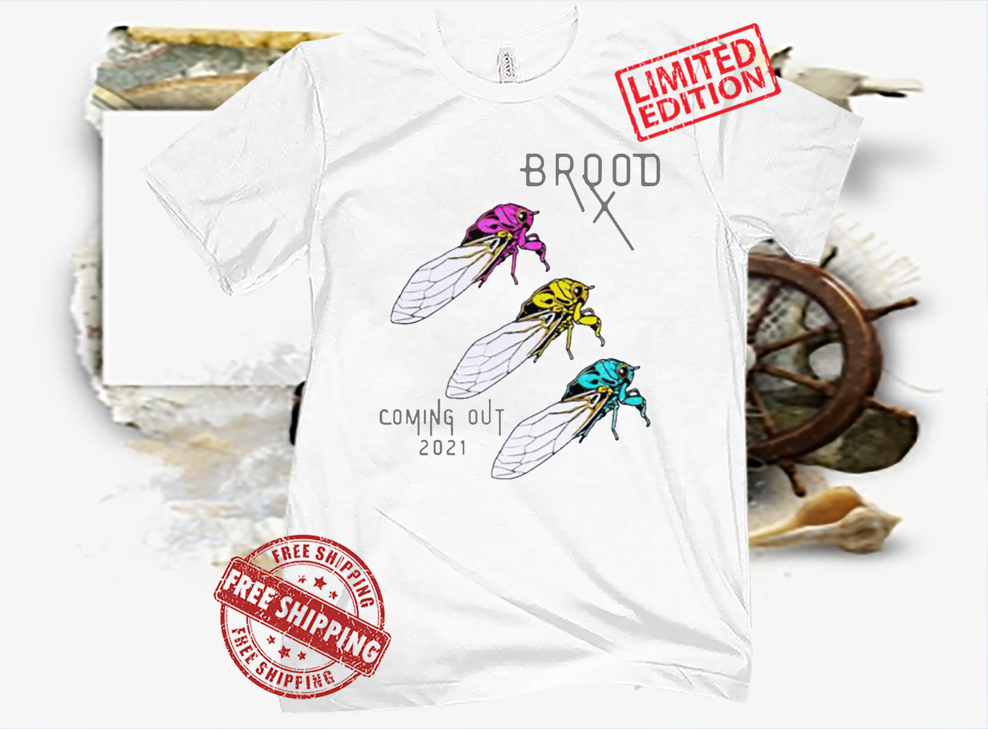 Pansexual Cicadas Brood Coming Out 2021 T-Shirt