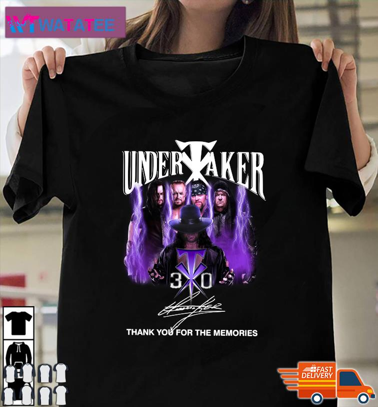 The Undertaker 30th Anniversary Thank You For The Memories Signatures T-Shirt