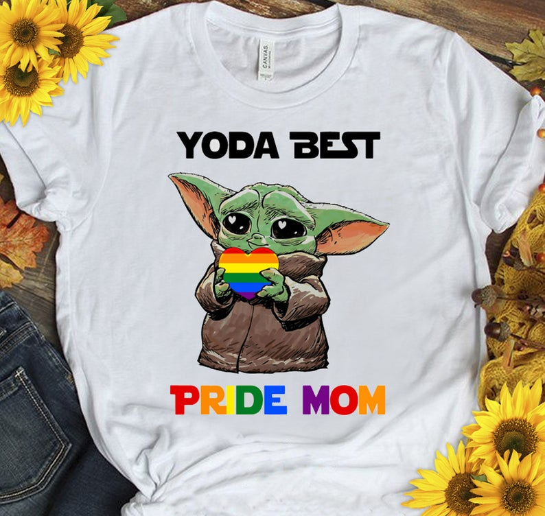 Yoda Best Pride Mom LGBT Shirt, Best Mom Ever, Mothers Day Gift, Mom LGBT, Gifts for Mom, Mothers Day From Daughter, First Mothers Day 2021 Gift
