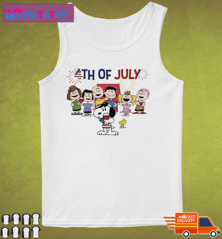 Snoopy And The Peanuts Characters Happy 4th Of July, Independence Day Shirt Tank Top